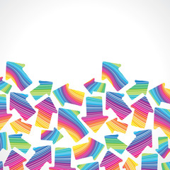 retro (seamless) stripe pattern with arrows on white background