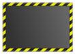 Tafel mit gelben Streifen