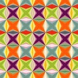 Geometric abstract many-colored seamless pattern