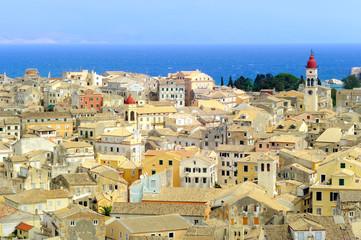 The city of Kerkyra, Corfu island, Greece