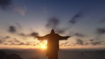 Christ the Reedemer at sunset, Rio de Janeiro, Brazil
