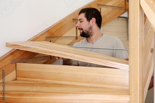 Fotobehang Trappen Escalier