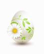 Osterei mit floralem Ornament und Margerite