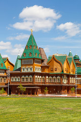 Beautiful wooden palace in Kolomenskoe