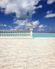 terrace at the seaside ( Maledives )