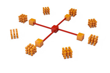 Network Structure - 3D Render