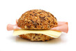Whole grain sandwich with salami and cheese