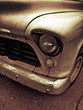 dirty classic car