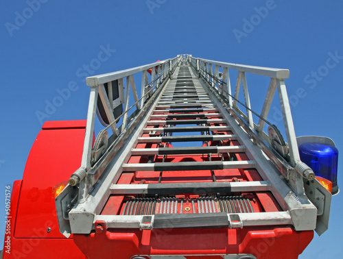 platform of a fire truck during a practice session in the Fireho