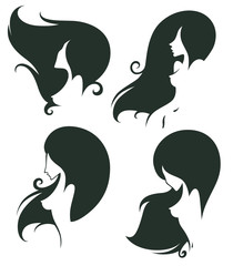 vector collection of naked girl images for spa, hairdressers sal