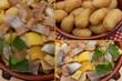 Hareng saur aux Pommes vapeur et Citron confit