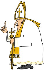 Pope in white