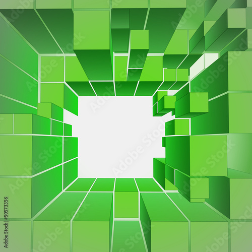 green central ecology gate composition vector