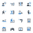 Hotel Services and Facilities Icons,  Set 2 - Blue Series