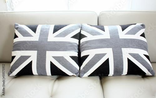 coussins noir et gris du drapeau anglais photo libre de droits sur la banque d 39 images fotolia. Black Bedroom Furniture Sets. Home Design Ideas