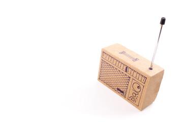 Radio cardboard