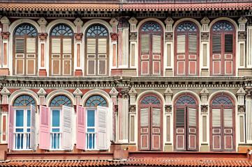 Maisons coloniales à Singapour