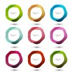 Abstract vector colorful circle for speech bubbles illustration