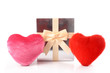 Hearts and gift
