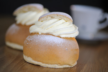 Traditional Swedish semla