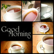 Cup of tea, photo collage