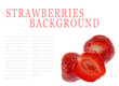 Strawberries background isolated on white