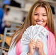 Rich shopping woman