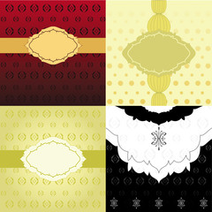Set of Invitation Backgrounds
