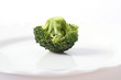 Ripe Broccoli Cabbage Isolated on White Plate