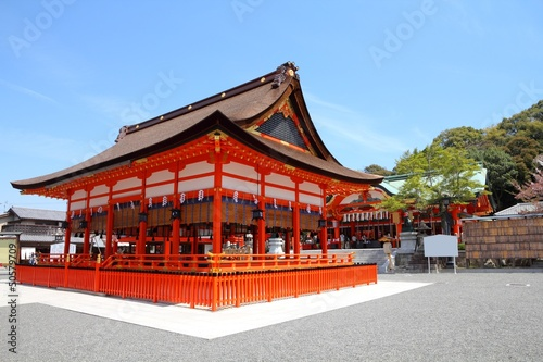 Inari shrine in Kyoto Prefecture, Japan