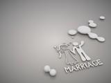 Elegant Marriage symbol in a stylish grey background