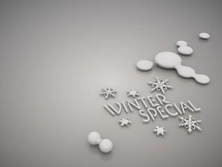 Elegant winter special symbol in a stylish grey background
