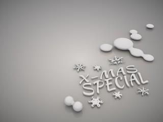 Elegant christmas special symbol in a stylish grey background