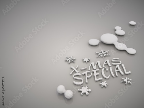 Elegant christmas special symbol in a stylish grey background