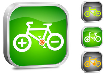 e-bike, vector button set