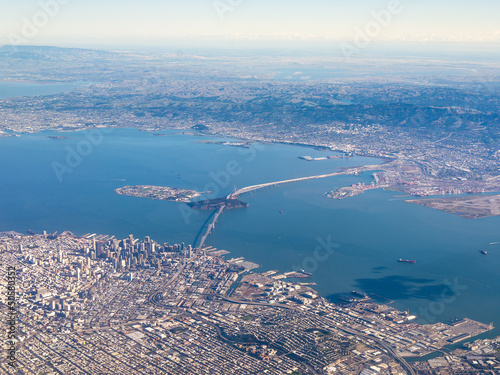 Deurstickers San Francisco Aerial Photograph of San Francisco and The Bay Area
