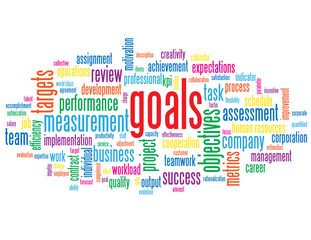 """GOALS"" Tag Cloud (performance targets objectives teamwork kpis)"