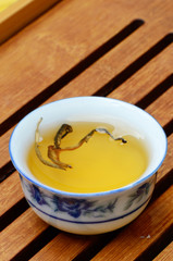 A cup of yunnan golden tea