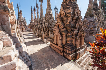 Stupas in the Kakku Pagoda Complex in Myanmar