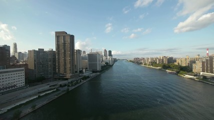 areal view city new york skyline east river view 1080 HD