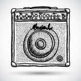 Guitar Combo Amplifier Vector Illustration