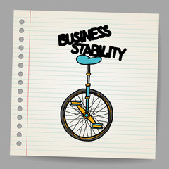 Business stability concept. Vector illustration
