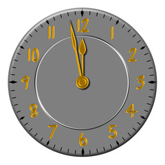 Wall clock in grey