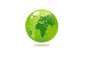 illustration of green sphere globe