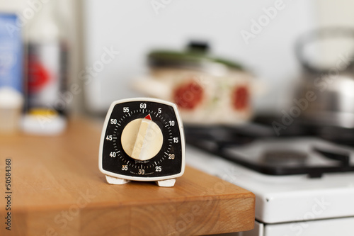 Vintage Stopwatch in Kitchen