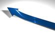 Freccia blu salita rialzo