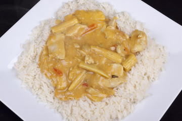 coconut curry with rice
