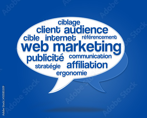 nuage de mots : web marketing