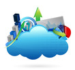 Business financial economy Cloud computing concept
