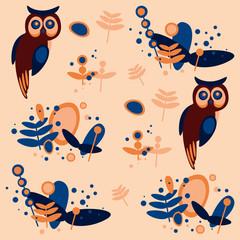 owl, pattern